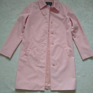 Ralph Lauren pastel pink car coat mackintosh